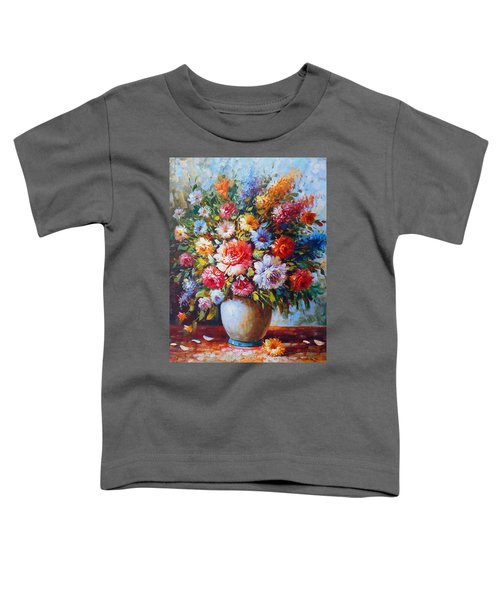 Still Life Colourful Flowers In Bloom Toddler T-Shirt