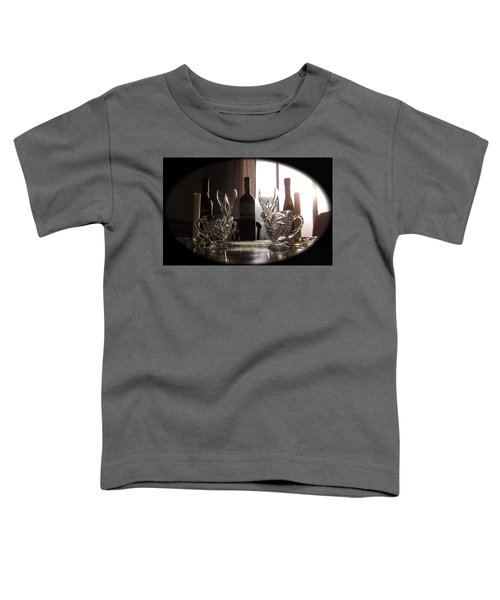 Toddler T-Shirt featuring the photograph Still Life - The Crystal Elegance Experience by Shawn Dall