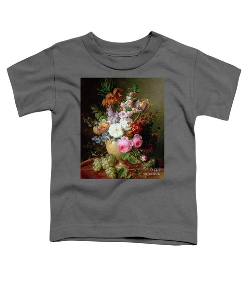 Still Life With Flowers And Grapes Toddler T-Shirt