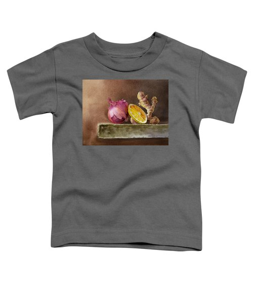 Still Life With Onion Lemon And Ginger Toddler T-Shirt