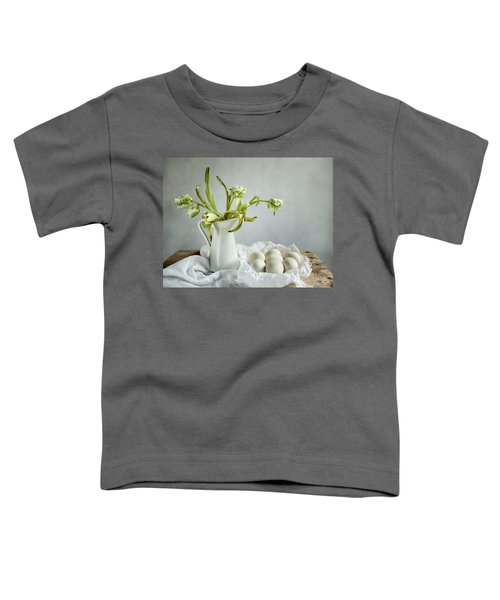 Still Life With Tulips And Eggs Toddler T-Shirt