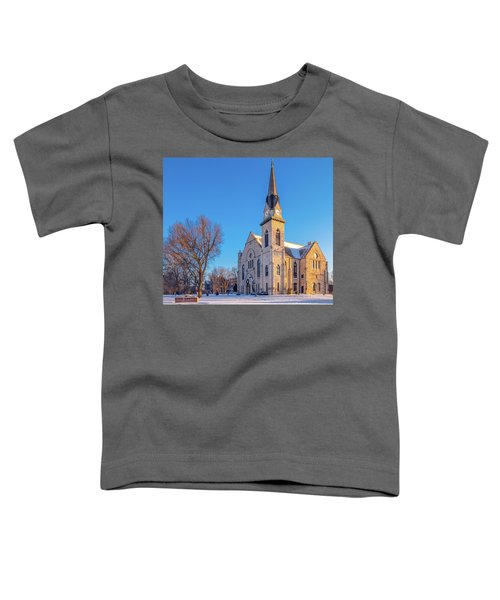 Stone Chapel In Winter Toddler T-Shirt
