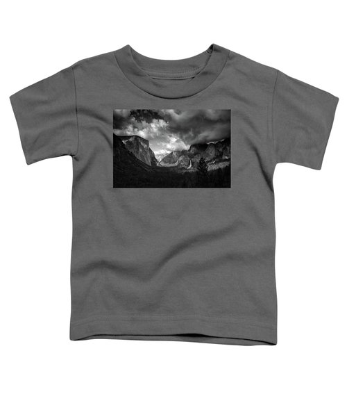 Storm Arrives In The Yosemite Valley Toddler T-Shirt