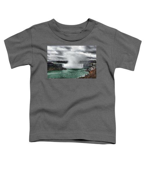 Storm At Niagara Toddler T-Shirt