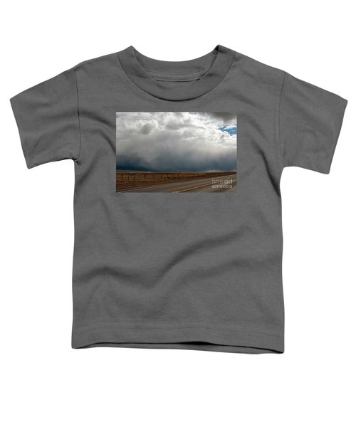 Storm On Route 287 N Of Ennis Mt Toddler T-Shirt