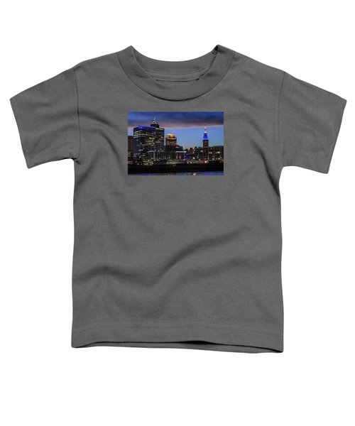 Storm Over Cleveland Toddler T-Shirt