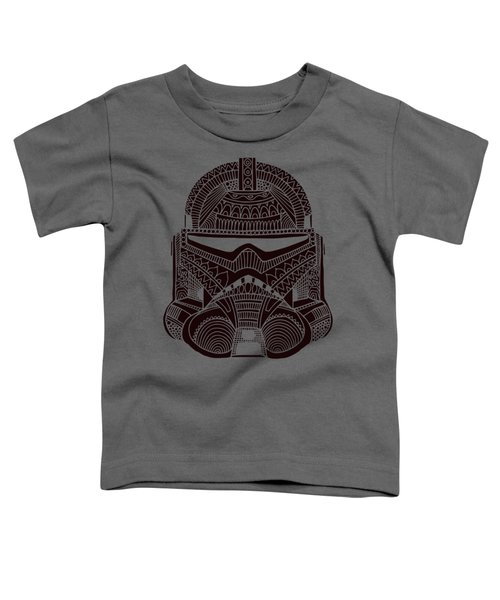 Stormtrooper Helmet - Star Wars Art - Brown  Toddler T-Shirt