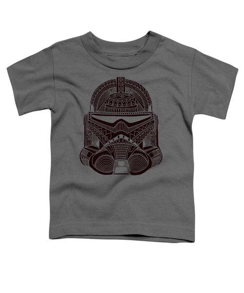 Stormtrooper Helmet - Star Wars Art - Brown  Toddler T-Shirt