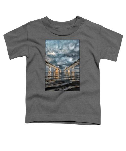 Stormy Chesapeake Bay Bridge Toddler T-Shirt
