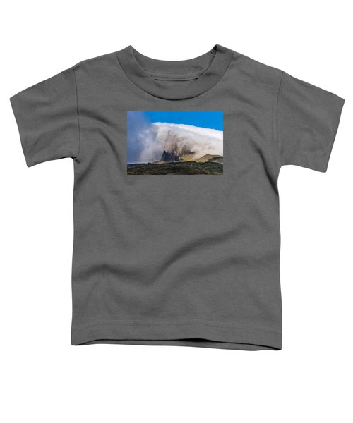 Toddler T-Shirt featuring the photograph Storr In Cloud by Gary Eason
