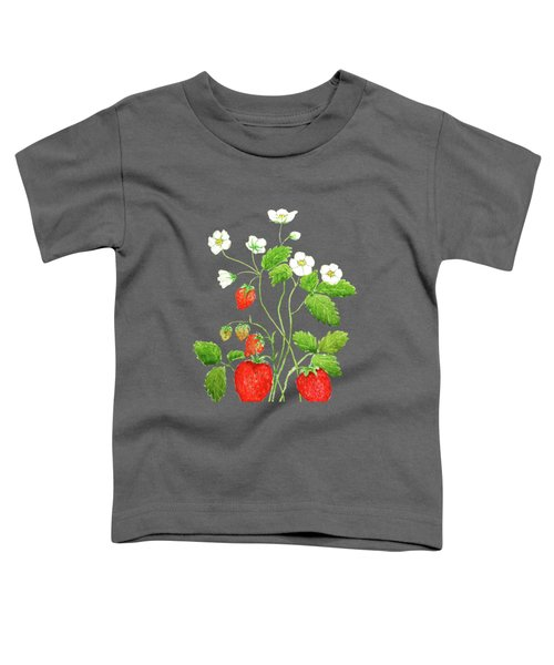 Strawberry  Toddler T-Shirt by Color Color