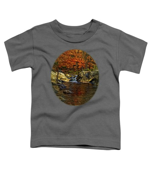 Stream In Autumn 57 In Oil Toddler T-Shirt by Mark Myhaver
