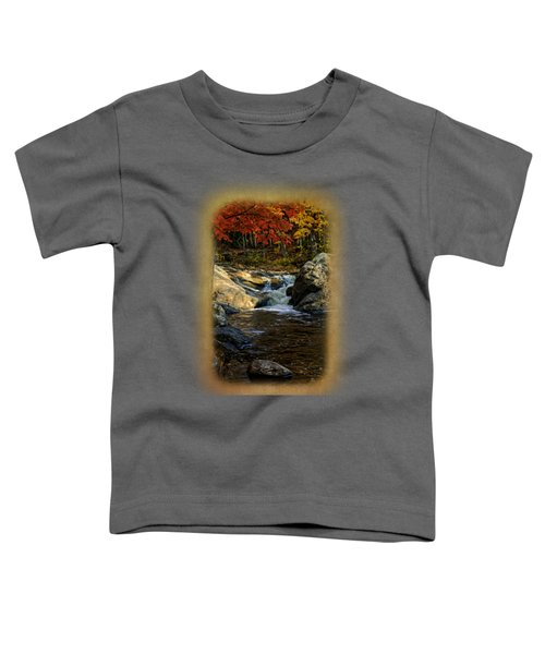 Stream In Autumn No.17 Toddler T-Shirt by Mark Myhaver