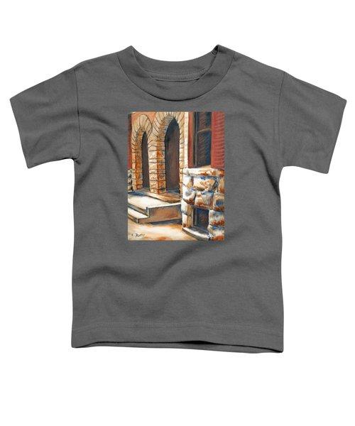 Street Scene Oil Painting Toddler T-Shirt