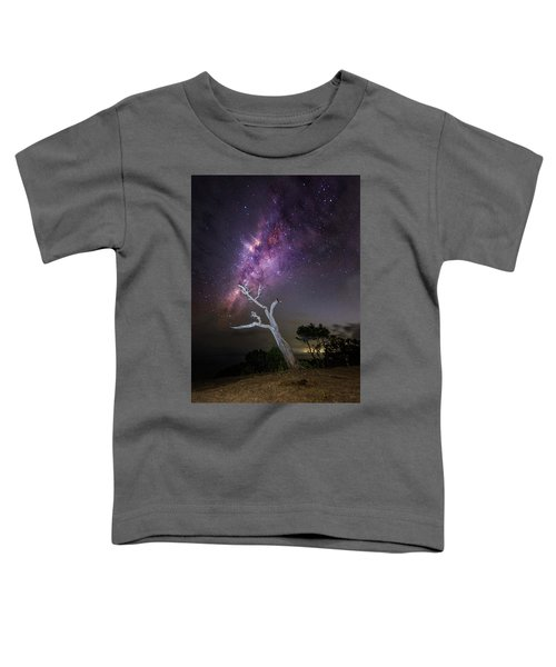 Striking Milkyway Over A Lone Tree Toddler T-Shirt