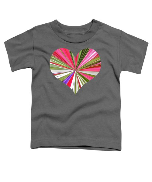 Striped Heart Toddler T-Shirt