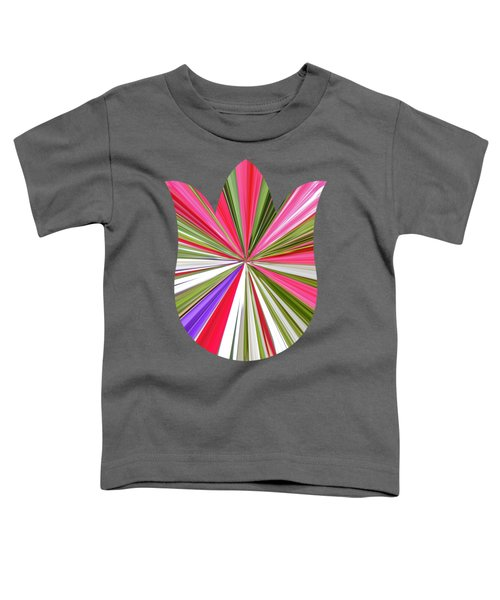 Striped Tulip Toddler T-Shirt by Marian Bell