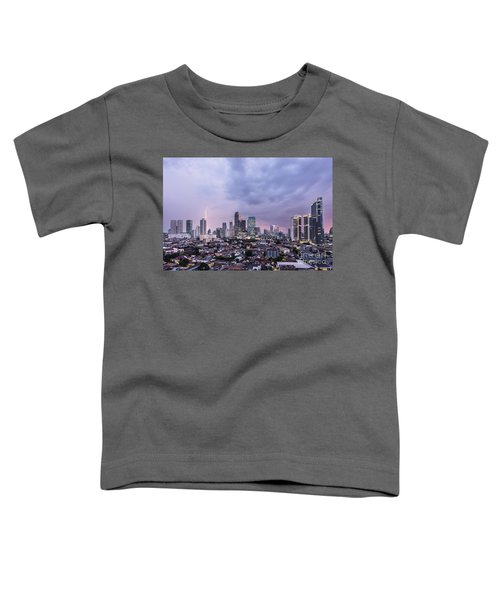 Stunning Sunset Over Jakarta, Indonesia Capital City Toddler T-Shirt