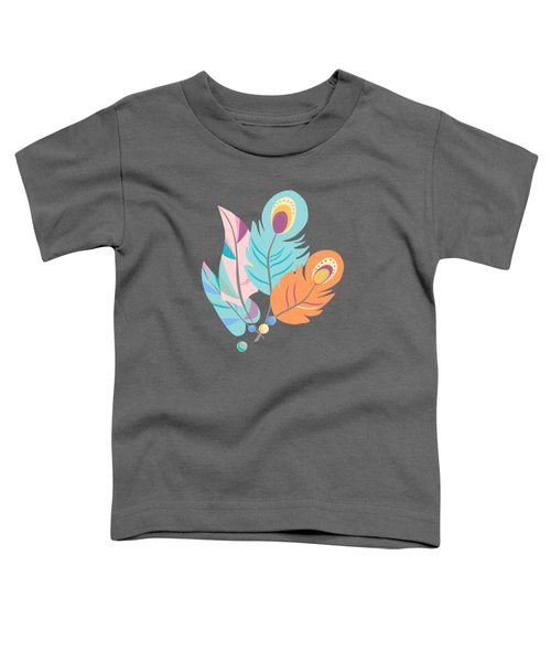 Stylized Peacock Feather Design Toddler T-Shirt
