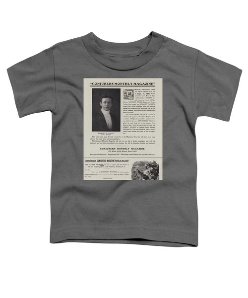 Subscription Form For Conjurers Monthly Magazine, Editor In Chief Harry Houdini, Circa 1906 Toddler T-Shirt