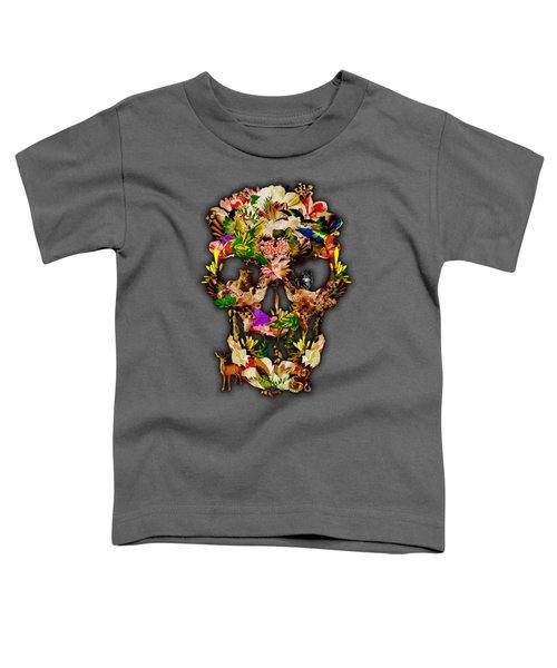 Sugar Skull Animal Kingdom Toddler T-Shirt by Three Second
