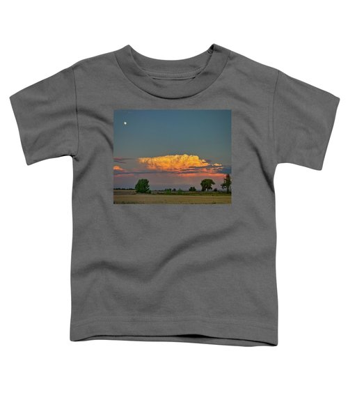 Toddler T-Shirt featuring the photograph Summer Night Storms Brewing And Moon Above by James BO Insogna