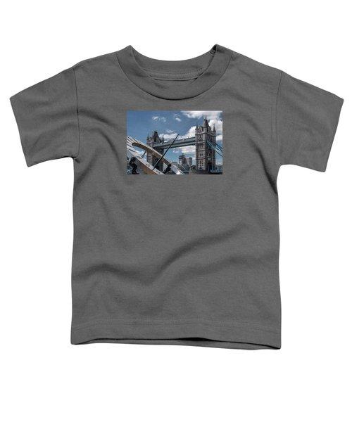 Sun Clock With Tower Bridge Toddler T-Shirt