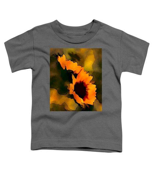 Toddler T-Shirt featuring the digital art Sun Flower by Gerry Morgan