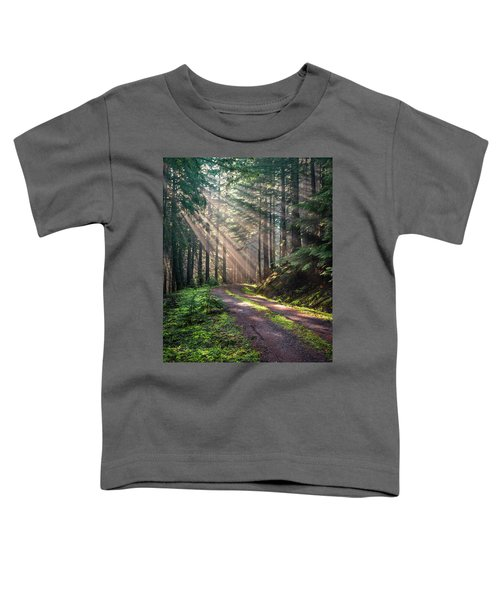 Sunbeam In Trees Portrait Toddler T-Shirt