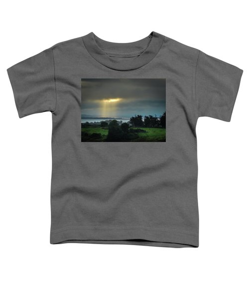 Toddler T-Shirt featuring the photograph Sunbeam Spotlights Shannon Airport by James Truett