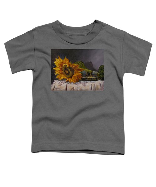 Sunflower And Book Toddler T-Shirt