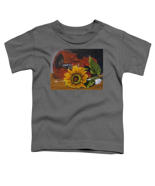 Sunflower And Violin Toddler T-Shirt
