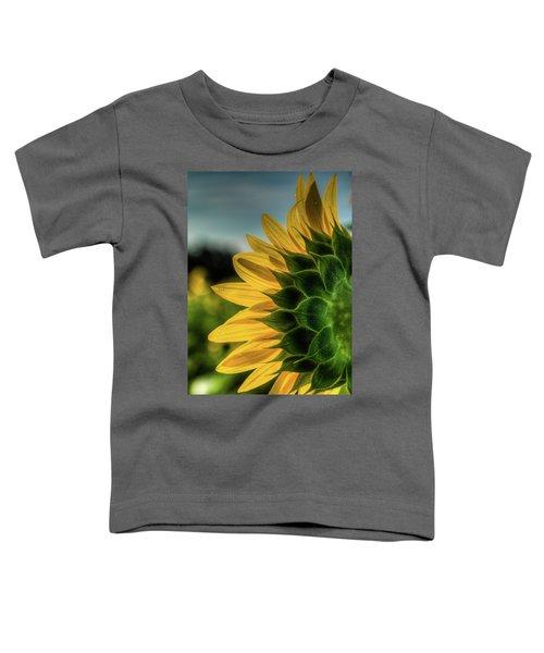 Sunflower Blooming Detailed Toddler T-Shirt
