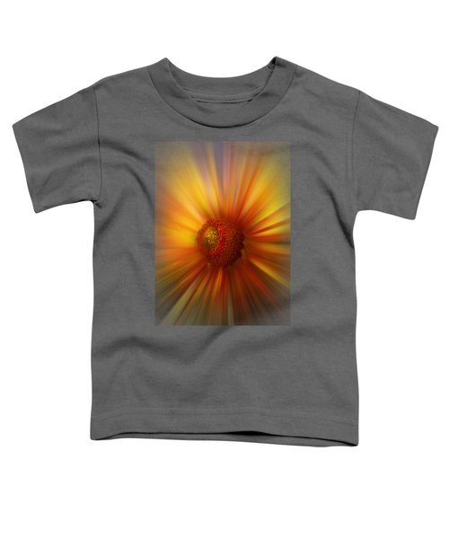 Sunflower Dawn Zoom Toddler T-Shirt by Debra and Dave Vanderlaan