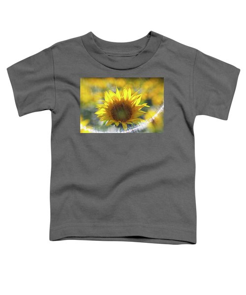 Sunflower With Lens Flare Toddler T-Shirt