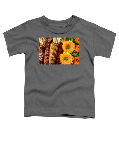 Sunflowers And Indian Corn Toddler T-Shirt