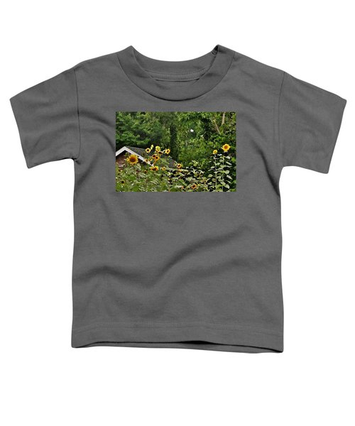 Sunflowers At The Good Earth Market Toddler T-Shirt