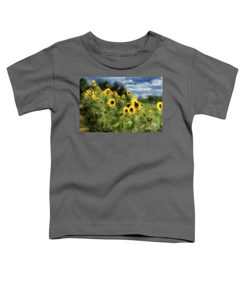 Sunflowers Bowing And Waving Toddler T-Shirt