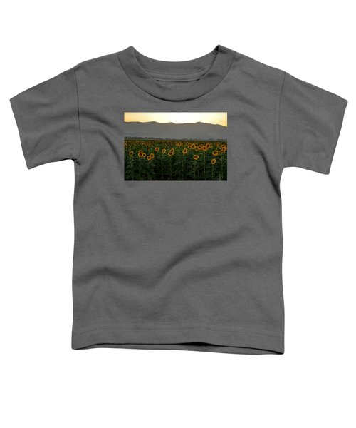 Toddler T-Shirt featuring the photograph Sunflowers by Dubi Roman