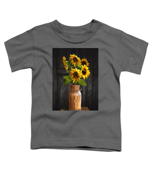 Sunflowers In Copper Milk Can Toddler T-Shirt