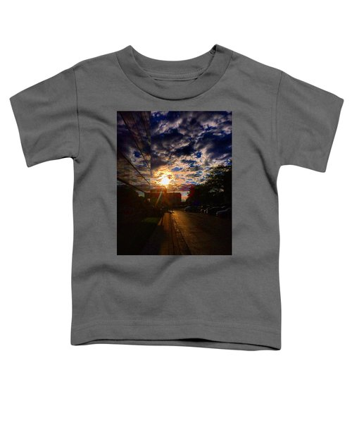 Sunlit Cloud Reflection Toddler T-Shirt