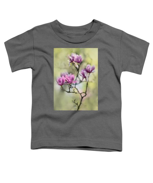 Toddler T-Shirt featuring the photograph Sunny Impression With Pink Magnolias by Jaroslaw Blaminsky