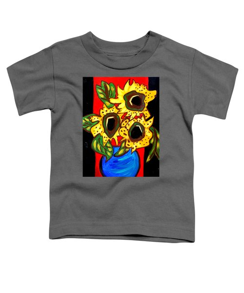 Sunny Sunflowers 1 Toddler T-Shirt