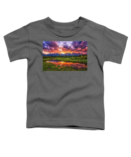 Sunrays Over The Tetons Toddler T-Shirt
