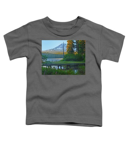 Sunrise At Takhlakh Lake Under Mt Adams Toddler T-Shirt