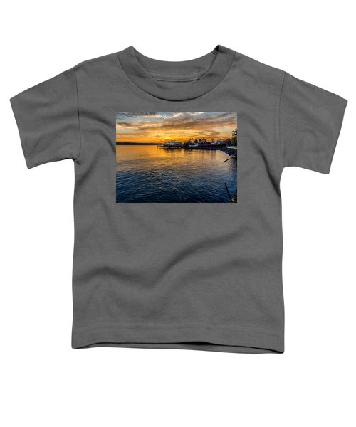 Sunrise Over Commencement Bay Tacoma, Wa Toddler T-Shirt