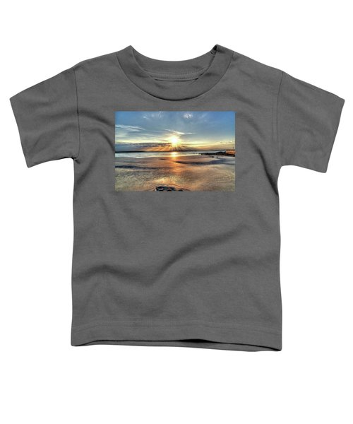 Sunrise Over Red Rock Park Lynn Ma Kings Beach Toddler T-Shirt