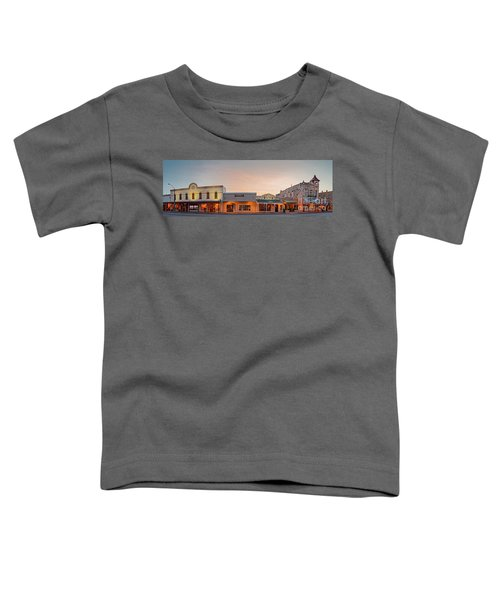 Sunrise Panorama Of Downtown Fredericksburg Historic District - Gillespie County Texas Hill Country Toddler T-Shirt