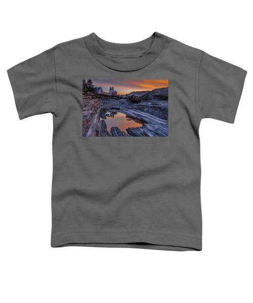 Sunrise Reflections At Pemaquid Point Toddler T-Shirt