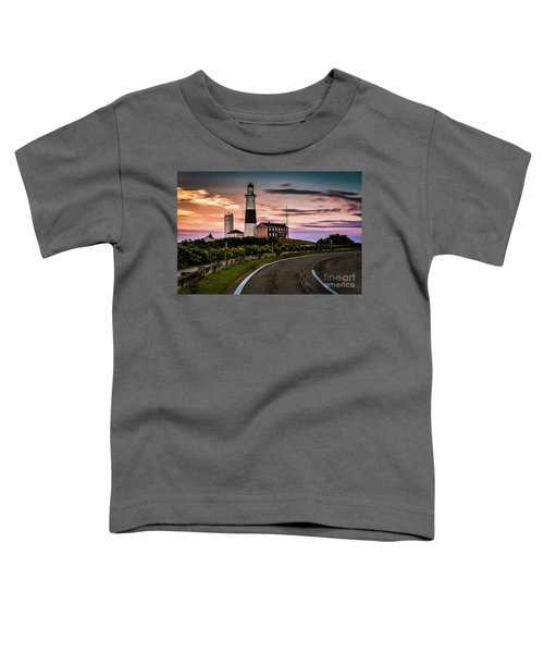 Sunrise Road To The Montauk Lighthous Toddler T-Shirt